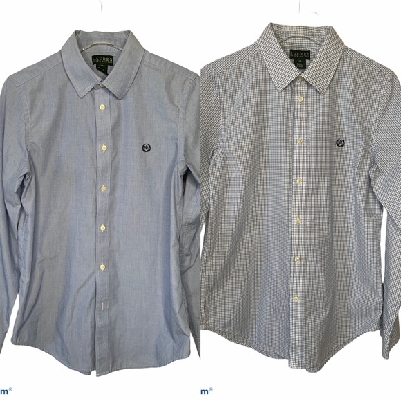 Lauren Ralph Lauren Boys sz 20 XL button up shirts